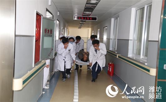 高新区 潍坊/潍坊高新区人民医院火灾及灾害事故应急演练息。