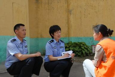 石晓阳:高墙内的女警官(图)--潍坊--人民网